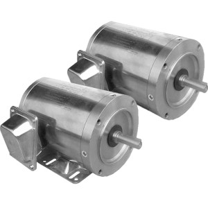 WSS1-18-56CB Stainless Steel Washdown Duty Motors, Fractional HP Motors, C-face, Rigid Base, Three-Phase